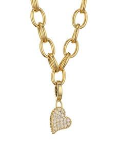 Roberto Coin Princess Charms 18K Yellow Gold & Diamond Heart Charm