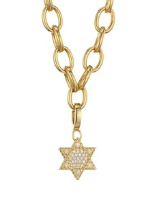 Roberto Coin Princess Charms 18K Yellow Gold & Diamond Star of David Charm