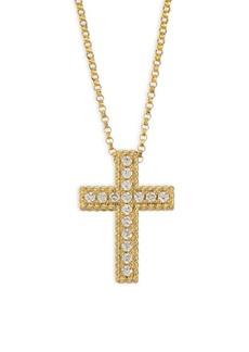 Roberto Coin 18K Gold 0.15TCW Diamond Cross Necklace