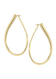 Roberto Coin 18K Gold Teardrop Hoop Earrings