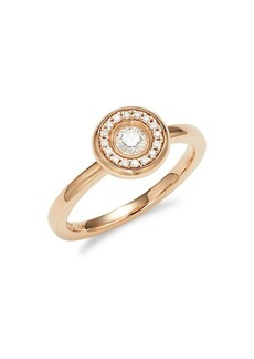 Roberto Coin 18K Rose Gold & Diamond Ring