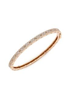 Roberto Coin 18K Rose Gold Pavé Diamond Bangle Bracelet
