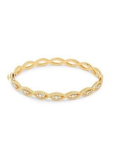 Roberto Coin 18K Two-Tone Gold & Diamond Bangle Bracelet