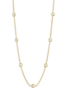 Roberto Coin 18K Yellow Gold & Diamond Station Necklace