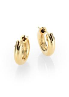 "Roberto Coin 18K Yellow Gold Huggie Hoop Earrings/0.5"""