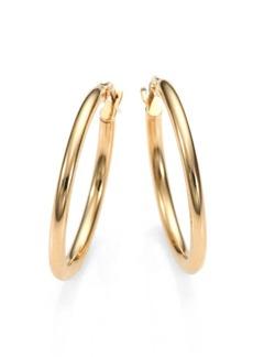 "Roberto Coin 18K Yellow Gold Oval Hoop Earrings/1"""