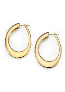 "Roberto Coin 18K Yellow Gold Oval Hoop Earrings/1.8"""