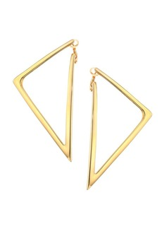 Roberto Coin Basic Gold 18K Yellow Gold Triangular Drop Earrings