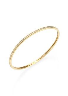 Roberto Coin Diamond & 18K Yellow Gold Bangle Bracelet