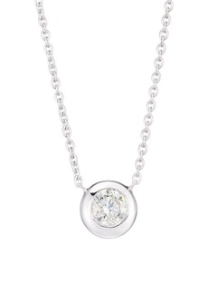 Roberto Coin Diamond By The Inch 18K White Gold & Diamond Necklace