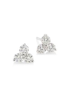 Roberto Coin Diamond Classic 18K White Gold & Diamond Cluster Stud Earrings