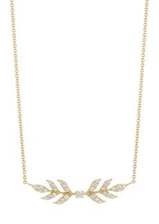 Disney's Frozen 2 x Roberto Coin 18K Yellow Gold & Diamond Wheat Pendant Necklace