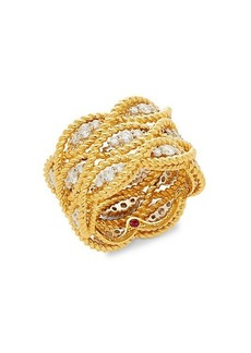 Roberto Coin New Barocco 18K Two-Tone Gold & Diamond Multi-Row Ring