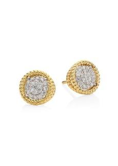 Roberto Coin New Barocco 18K Yellow Gold Diamond Earrings