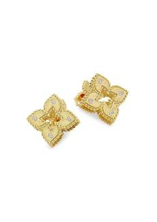 Roberto Coin Petite Venetian 18K Yellow Gold & Diamond Stud Earrings
