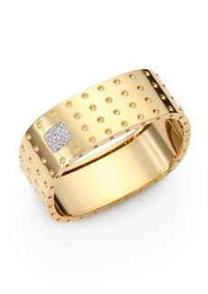 Roberto Coin Pois Moi Diamond & 18K Yellow Gold Four-Row Bangle Bracelet