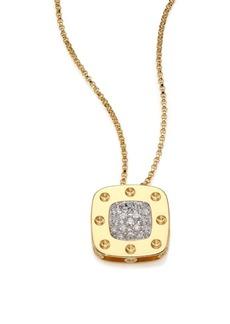 Roberto Coin Pois Moi Diamond & 18K Yellow Gold Large Pendant Necklace