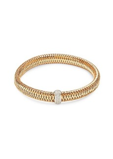 Roberto Coin Primavera 18K Two-Tone Gold & Diamond Bangle Bracelet