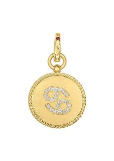 Roberto Coin Princess 18K Yellow Gold & Diamond Cancer Zodiac Pendant