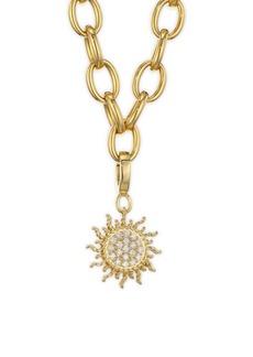 Roberto Coin Princess Charms 18K Yellow Gold & Diamond Sun Charm