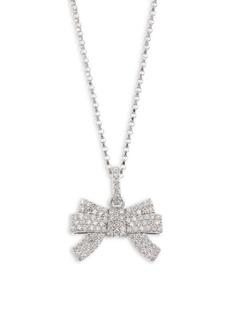 Roberto Coin Princess Cinderella 18K White Gold & Diamond Bow Pendant Necklace