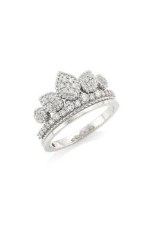 Roberto Coin Princess Cinderella 18K White Gold & Diamond Tiara Ring