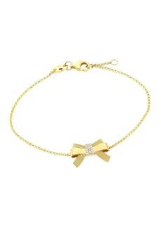 Roberto Coin Princess Cinderella 18K Yellow Gold & Diamond Bow Pendant Bracelet