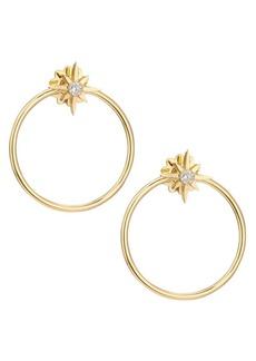 Roberto Coin Princess Cinderella 18K Yellow Gold & Diamond Hoop Earrings