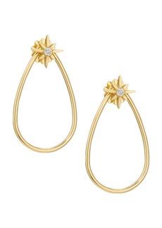 Roberto Coin Princess Cinderella 18K Yellow Gold & Diamond Teardrop Earrings