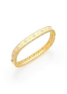 Roberto Coin Princess Diamond & 18K Yellow Gold Bangle Bracelet