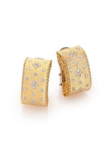 Roberto Coin Princess Diamond & 18K Yellow Gold Drop Earrings
