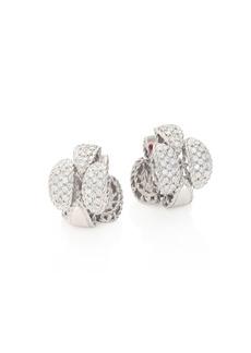 Roberto Coin Retro 18K White Gold & Diamond Earrings