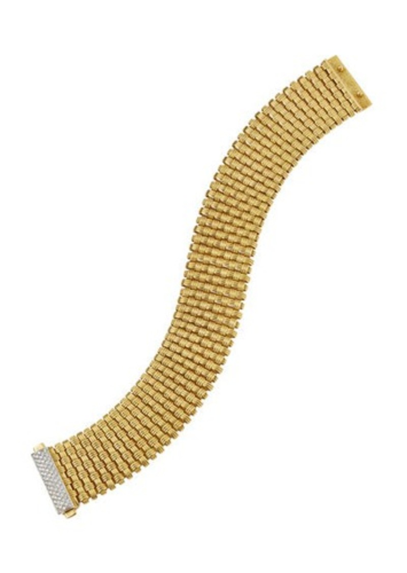Roberto Coin 18k Appassionata Mini 9-Row Bracelet w/ Diamond Pave