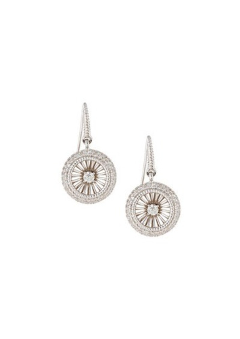 Roberto Coin 18k Art Nouveau Diamond Earrings
