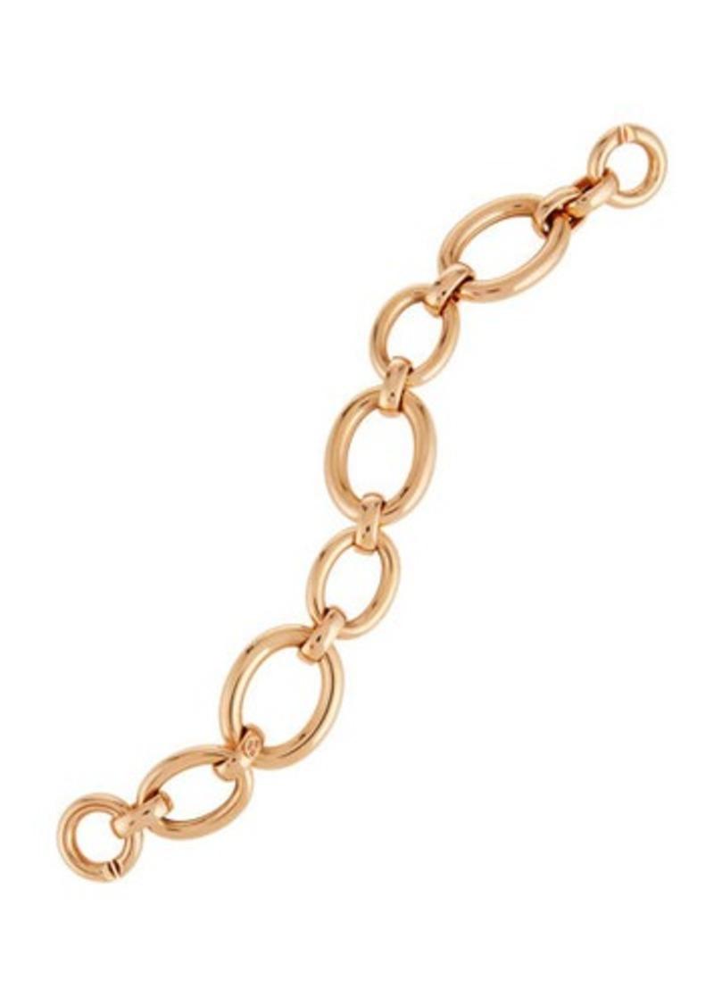 Roberto Coin 18K Rose Three-Ring Round-Link Bracelet oxuTCa