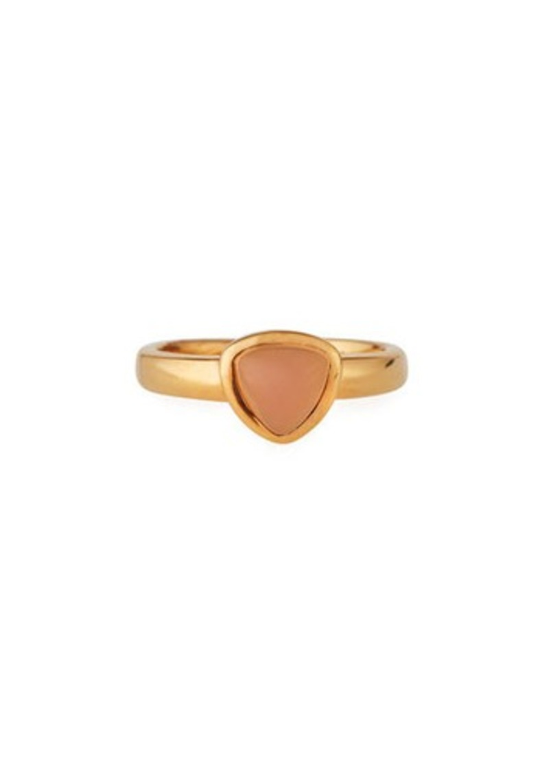 Roberto Coin 18k Rose Gold Pink Opal Ring