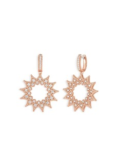 Roberto Coin 18K Rose Gold Roman Barocco Diamond Medium Drop Earrings