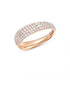 Roberto Coin 18K Rose Gold Scalare Pav� Diamond Ring