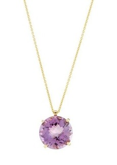 Roberto Coin 18k Round Purple Amethyst Pendant Necklace