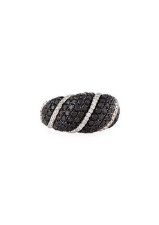 Roberto Coin 18k White Gold Black & White Diamond Ring
