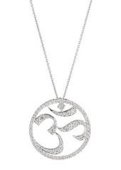 Roberto Coin 18k White Gold Diamond Om Pendant Necklace