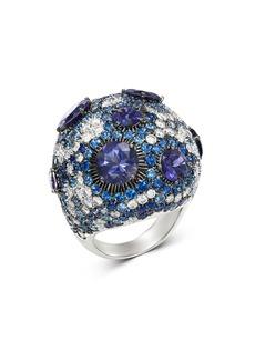 Roberto Coin 18K White Gold Fantasia Blue Sapphire & Lolite Cocktail Ring with Diamond