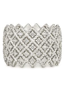Roberto Coin 18K White Gold Roman Barocco Diamond Statement Ring
