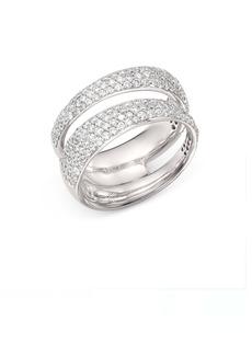 Roberto Coin 18K White Gold Scalare Double Pav� Diamond Ring
