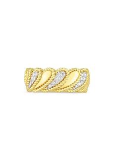 Roberto Coin 18K Yellow Gold Byzantine Barocco Diamond Ring