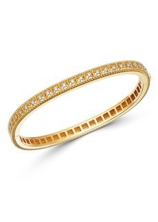 Roberto Coin 18K Yellow Gold Byzantine Barocco Diamond Single Row Bangle Bracelet