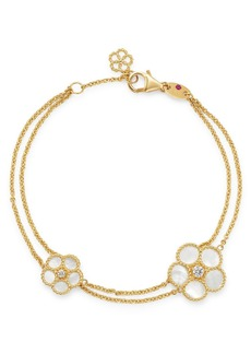 Roberto Coin 18K Yellow Gold Daisy Mother-of-Pearl & Diamond Bracelet - 100% Exclusive
