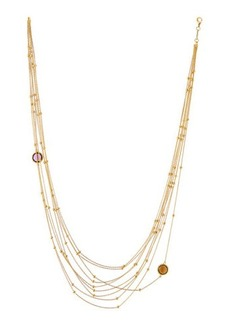 Roberto Coin 18k Yellow Gold Multi-Strand Amethyst & Citrine Necklace