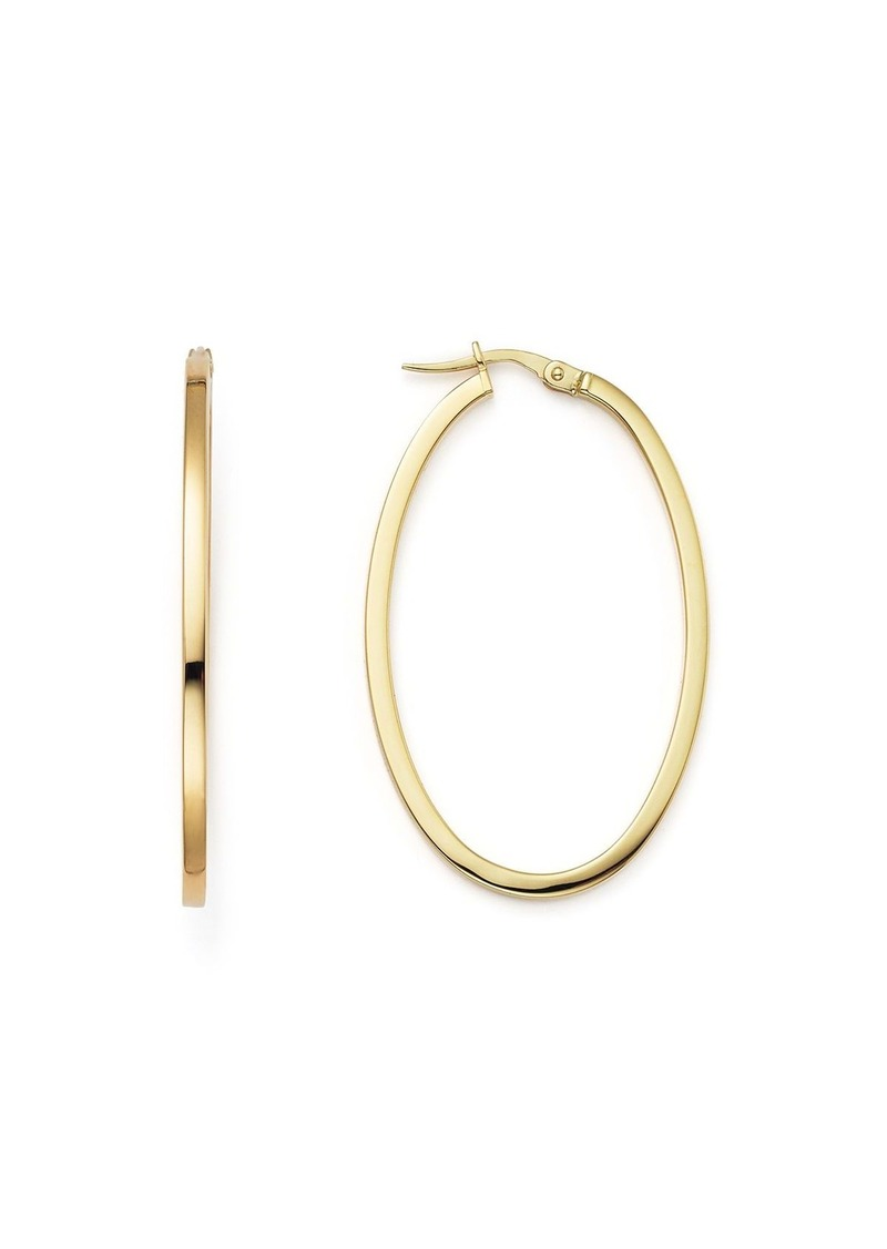 Roberto Coin 18K Yellow Gold Oval Hoop Earrings