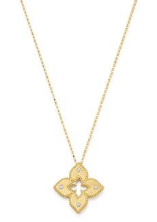 "Roberto Coin 18K Yellow Gold Petite Venetian Princess Diamond Pendant Necklace, 17"""